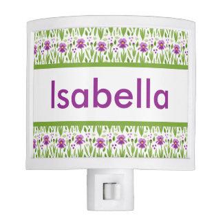 Isabella's Personalized Iris  Night Light