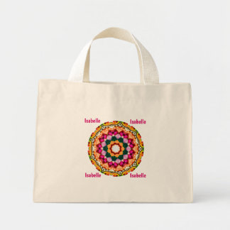 ISABELLE ~ Personalised Gem Stones Fractal ~ Mini Tote Bag