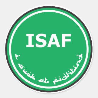 ISAF Logo Round Sticker