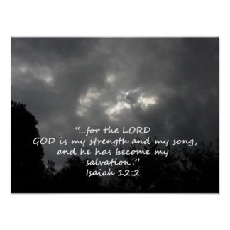 """""""Isaiah 12:2""""  by Carter L. Shepard Poster"""