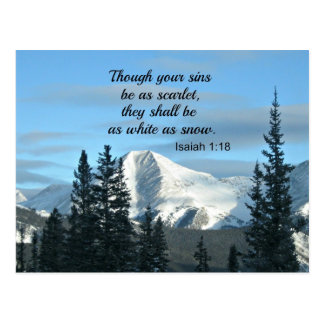 Isaiah 1:18 Though your sins be as scarlet... Post Card