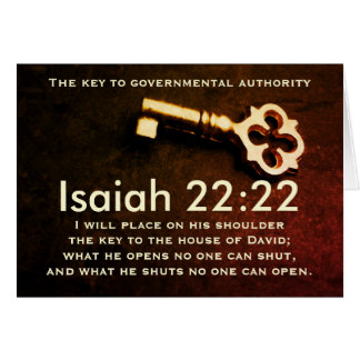 Isaiah 22:22 Key to the House of David Bible Verse Card