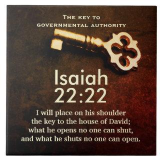 Isaiah 22:22 Key to the House of David Bible Verse Tile