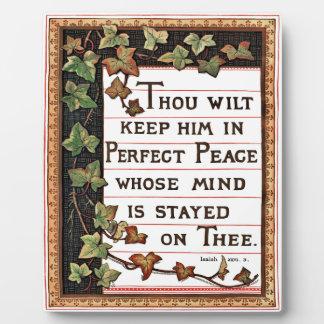 Isaiah 26:3 Victorian Scripture Plaque