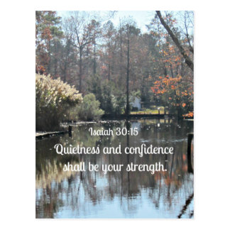 Isaiah 30:15 Quietness and confidence shall be Postcard