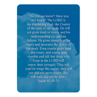 Isaiah 40;28-31- Inspirational Bookmark Pack Of Chubby Business Cards
