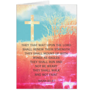 Isaiah 40:31 1, personalized Christian card