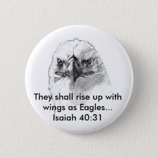 Isaiah 40:31 2 inch round button