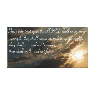 Isaiah 40:31 bible verse canvas print