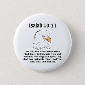 Isaiah 40:31 Button