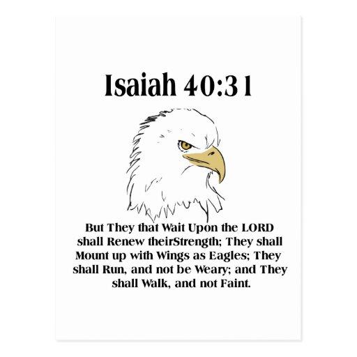 Isaiah 40:31 Card Post Card
