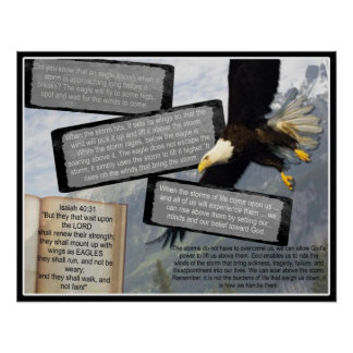 ISAIAH 40 31 INSPIRATIONAL POSTER EAGLE WINGS