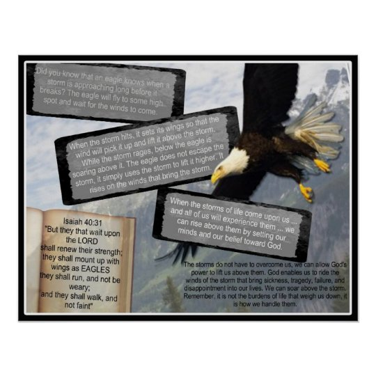 ISAIAH 40:31 INSPIRATIONAL POSTER EAGLE WINGS