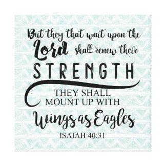 Isaiah 40:31 KJV Canvas Print