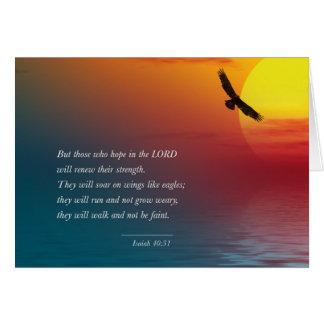 Isaiah 40:31Bible Verse Greeting Card Editable