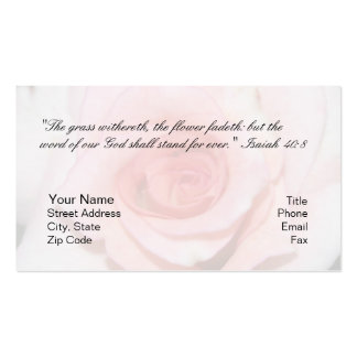 Isaiah 40 8 Personal Card Business Card