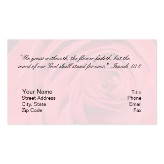 Isaiah 40:8 Personal Card Pack Of Standard Business Cards