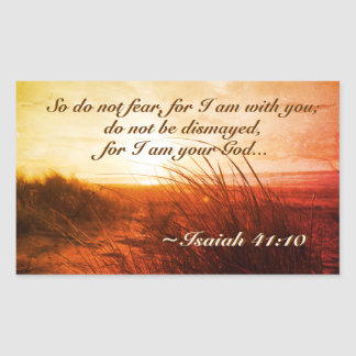Isaiah 41:10 Bible Verse Do not fear I am with you Sticker
