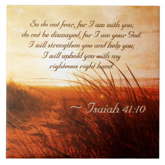 Isaiah 41:10 Bible Verse Do not fear I am with you Tile