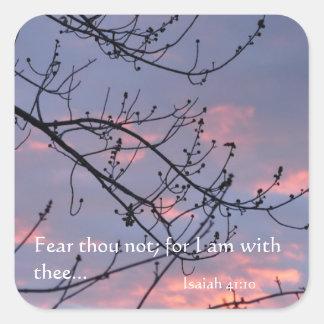 Isaiah 41:10 Bible Verse Square Sticker