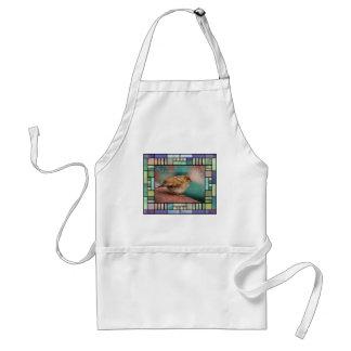 Isaiah 41:10 Bible Verse With Bird Stained Glass Standard Apron