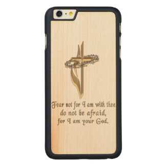 Isaiah 41:10 carved maple iPhone 6 plus case