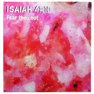 Isaiah 41 10 I Will Strengthen Napkin
