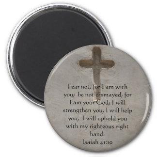 Isaiah 41:10 Inspirational Bible Verse 2 Inch Round Magnet