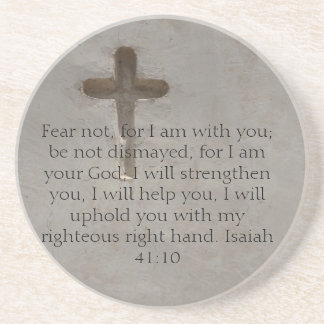 Isaiah 41:10 Inspirational Bible Verse Coaster