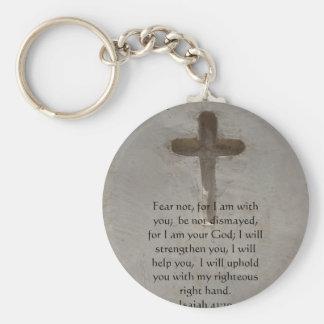 Isaiah 41:10 Inspirational Bible Verse Keychain