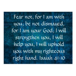 Isaiah 41:10 Inspirational Bible Verse Postcard