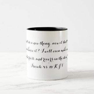 Isaiah 43:19 mug