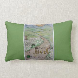 Isaiah 45:2 lumbar pillow