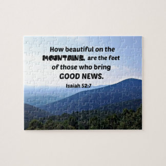 Isaiah 52:7 How beautiful on the mountains are Jigsaw Puzzle