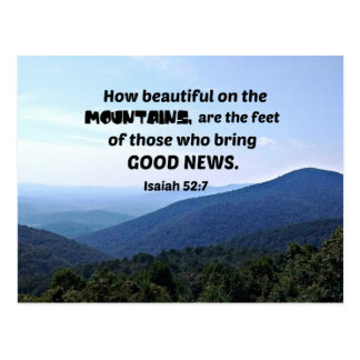 Isaiah 52:7 How beautiful on the mountains are Postcard