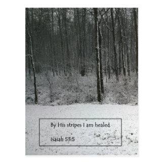 Isaiah 53:5 Scripture Post Card