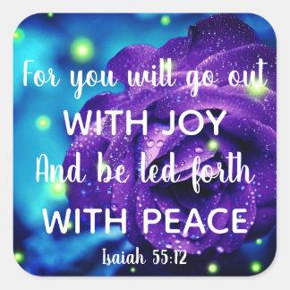 Isaiah 55:12 Inspirational Christian Stickers