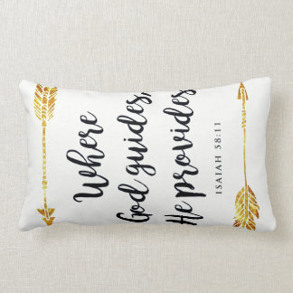 isaiah 58:11 lumbar pillow