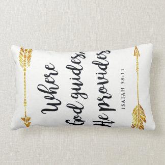 isaiah 58:11 lumbar pillow