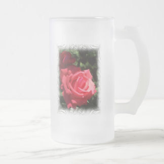 Isaiah 61:11 frosted glass beer mug