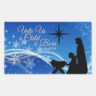 "Isaiah 9:6 ""a Child is Born"" Christmas Nativity Sticker"