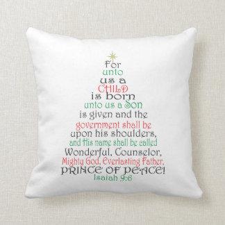 Isaiah 9:6 Christmas Scripture Pillow