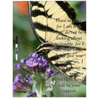 Isaiah Bible Scripture Butterfly Flower Board Dry-Erase Boards
