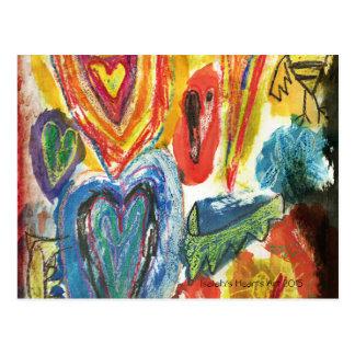 Isaiah's Heart Art Postcard
