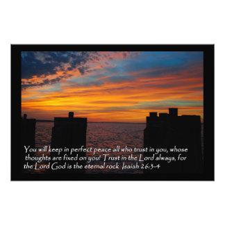 Isaiah's word photo print