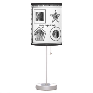 "Isang sulyap lang ""checkered black and white"" table lamp"