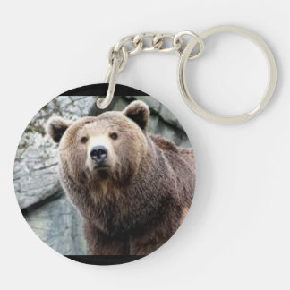 ISBD two sided key chain Brown Bare