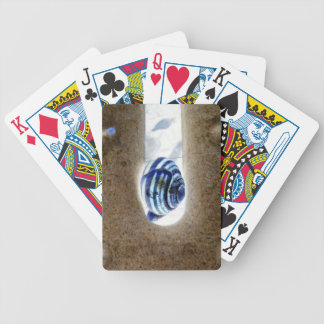 iSchnecken at the edge of way Bicycle Playing Cards