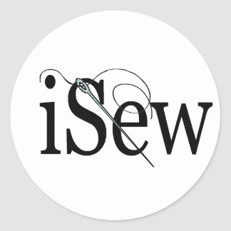 iSew T-shirts and Gifts. Round Sticker