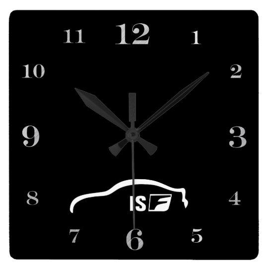 ISF white brushstroke logo Clock
